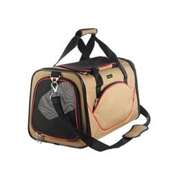 HUNTER - Pet Carrier Bag, Kansas Beige/Red