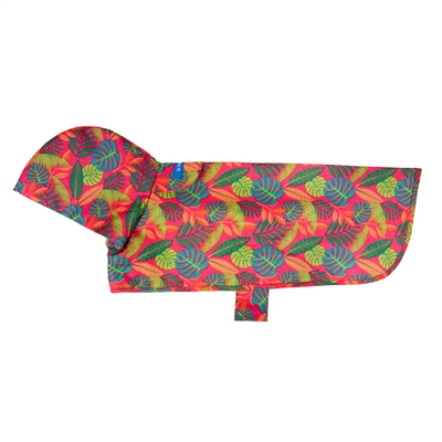Packable Rain Poncho - Tropical Foliage