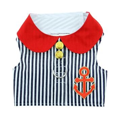 Sailor Boy Fabric Harness with Matching Leash (Special 30% Off)