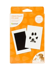 Pet Paw Print Clean Touch Ink Pad and Imprint Cards, Perfect for Cats or Dogs, Black