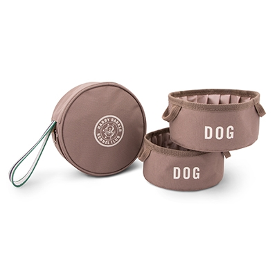 Kennel Club Fold-Up Travel Bowls & Pouch Set