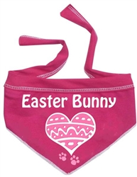 Heart Easter Bunny Scarf - Hot Pink