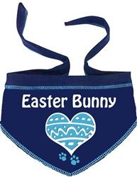 Heart Easter Bunny Scarf - Navy