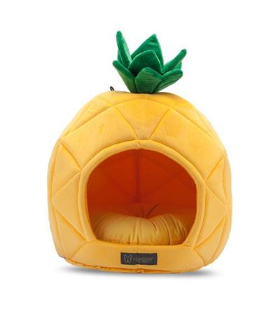 PINEAPPLE SHAPE MICRO FLEES PET BED