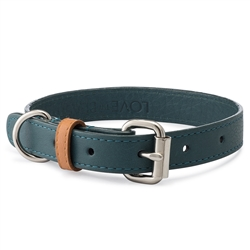 Emerald Pebble Leather Collar