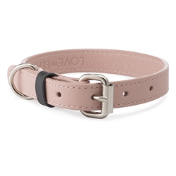 Blush Pebble Leather Collar