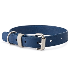 Cobalt Pebble Leather Collar