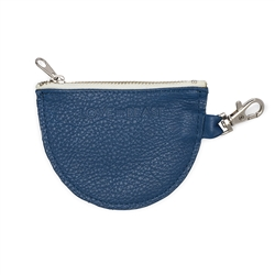 Cobalt Leather Pouch