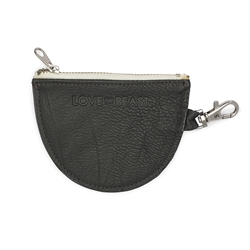 Charcoal Leather Pouch