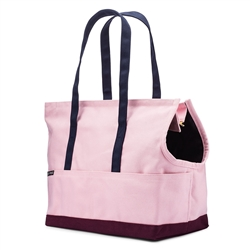 Canvas Pet Tote Rose & Burgundy
