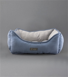 NANDOG REVERSIBLE PET BED BLUE/LIGHT GRAY