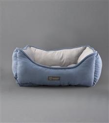 NANDOG REVERSIBLE PET BED BLUE/LIGHT GRAY