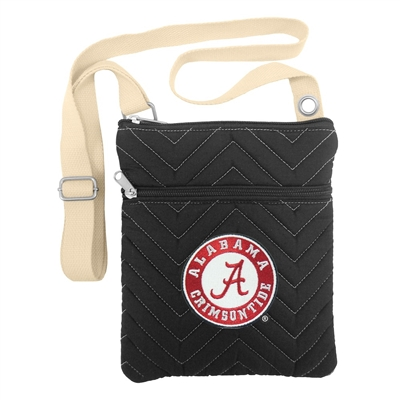 NCAA Alabama Crimson Tide Chev-Stitch Cross Body Purse