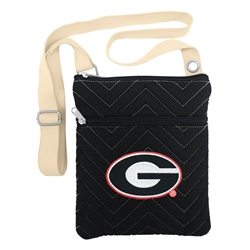 NCAA Georgia Bulldogs Chev-Stitch Cross Body Purse