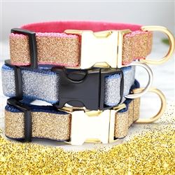 Silver & Gold Glitter Collars - 27 Colors