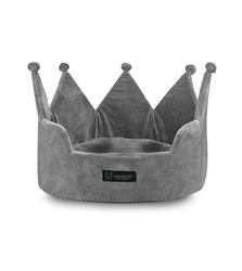 CROWN BED MICRO PLUSH LIGHT GRAY