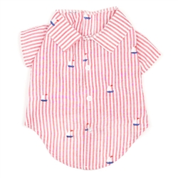 Red Stripe Sailboat Shirt