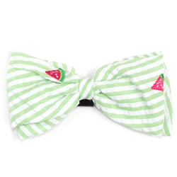 Green Stripe Watermelon Bow Tie