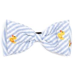 Lt. Blue Stripe Rubber Duck Bow Tie