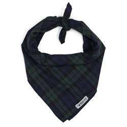 Black Watch Plaid Tie Bandana