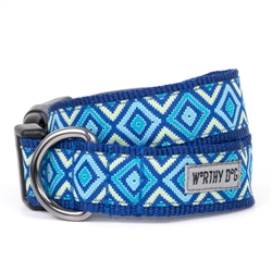 Graphic Diamond Blue Collar & Lead Collection