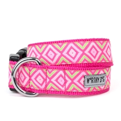 Graphic Diamond Pink Collar & Lead Collection