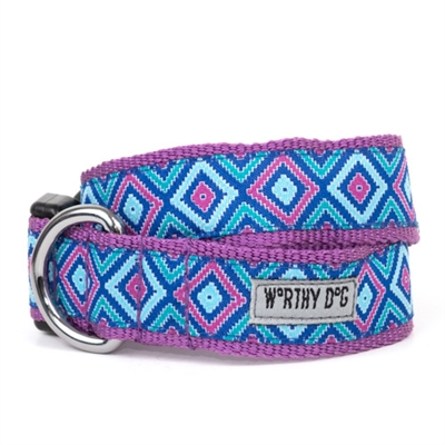 Graphic Diamond Purple Collar & Lead Collection