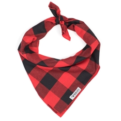 Large Buffalo Plaid Tie Bandana