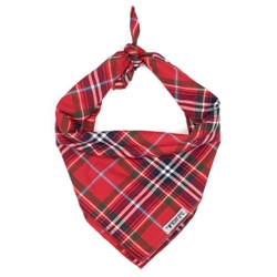 Red Plaid Tie Bandana