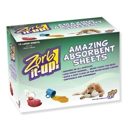 Zorb-It-Up!™ 15ct Disposable Sheets - Dispenser Boxes (case of 12) Super Absorbent Material