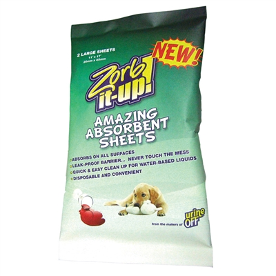 Zorb-It-Up!™ 2ct Disposable Sheets - Cello Packs (case of 100) Super Absorbent Material