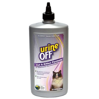 Urine Off for Cats & Kittens - 16oz Bottle Carpet Injector Cap (case of 12)
