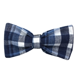 Seersucker Plaid Cotton Bowties