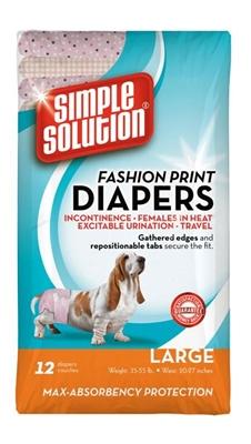 Bramton Simple Solution Fashion Print Disposable Diapers