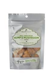 Full Spectrum Hemp and Mushroom Bites with Grass Fed New Zealand Lamb Liver, 2.7 oz bags (15 bites/bag)