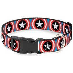 Buckle-Down Captain America Plastic Clip Dog Collar and Leash