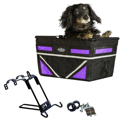 **IN STOCK & IMPROVED -2019 Large Pet-Pilot MAX  Dog Bike Basket Carrier | 9 color options for your bicycle