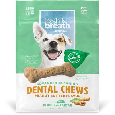 Peanut Butter Fresh Breath Chews - Small (20ct)