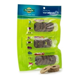 PetSafe® Breakfast, Lunch and Dinner Treat Rings - All-Natural Rawhide