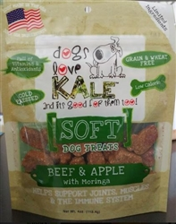 Beef and Apple  4 oz Soft Treat Resealable Bag