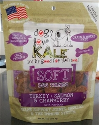 Turkey, Salmon and Cranberry 4 oz Soft Treat Resealable Bag