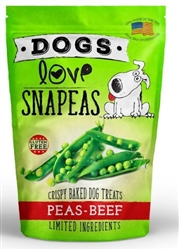 Peas & Beef 2.5 oz Snapeas Crunchy Treat  Resealable Bag