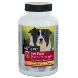 Nutri-Vet Pet-Ease Extra Strength Chewables for Large Dogs 60ct