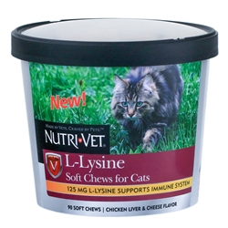 Nutri-Vet L-Lysine Soft Chews for Cats 90ct