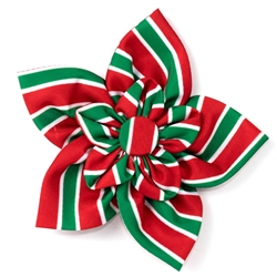 Holiday Stripe Flower