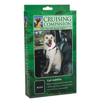 Cruising Companion Small/Medium Black Dog Car Safety Harness