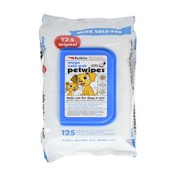 PetKin PetWipes Mega Valu-Pak 125 count