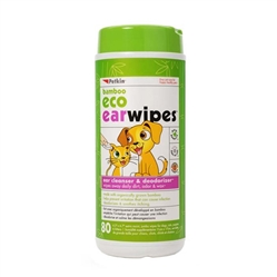 PetKin Bamboo Eco Earwipes 80 count