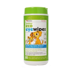 PetKin Bamboo Eco Eyewipes 80 count