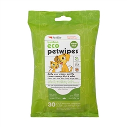 PetKin Bamboo Eco Petwipes Travel Pk - 30 count